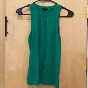Green, high neck top